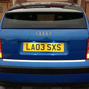 Rear with LED Number plate lights