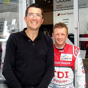 Me and Allan Mc Nish - 6 hour of silverstone 2011